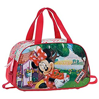 Disney Minnie Strawberry Bolsa de Viaje, 24.2 Litros, Color Rosa