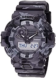 Casio Men's Quartz Watch, Analog-Digital Display and Resin Strap Ga-700Cm-8Adr, Multicolour