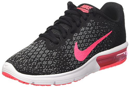 Nike Damen Wmns Air Max Sequent 2 Turnschuhe Schwarz (Black/racer Pink/anthracite/cool Grey/wolf Grey/white)