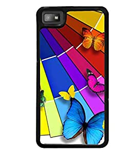 Printvisa Assorted Butterfly Pattern Back Case Cover for Blackberry Z10