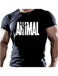 PF0001U T-SHIRT MAGLIETTA - ANIMAL PALESTRA SPORT MMA BODY BUILDING ALLENAMENTO HARD CROSSFIT