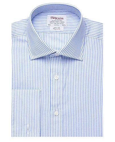 tmlewin-camisa-casual-rayas-clasico-manga-larga-para-hombre-azul-azul
