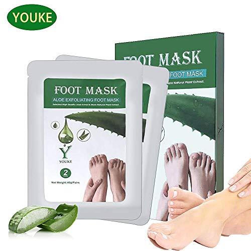 YOUKE Fuß Peeling Maske Peeling High-Effekt Aloe 2 Paar In Einer Box, Lassen Füße Haut weich und glatt