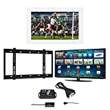 Samsung UE40MU6400 40-Inch Widescreen Full HD Smart LED Television, 40' White Color Barbican TV Mirror Frame, Wall Bracket and Infra Red Extender with 5 Years Manufacturer's Warranty