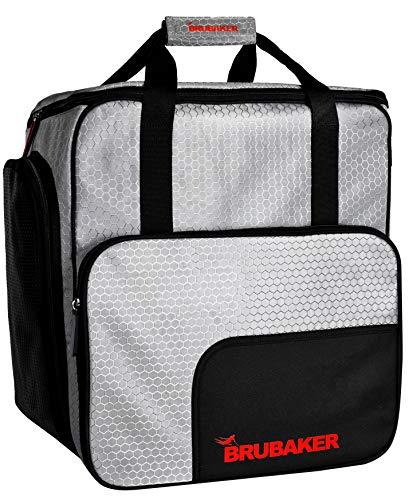 Brubaker SuperTec Skischuhtasche Helmtasche Rucksack mit Schuhfach - Silber Rot