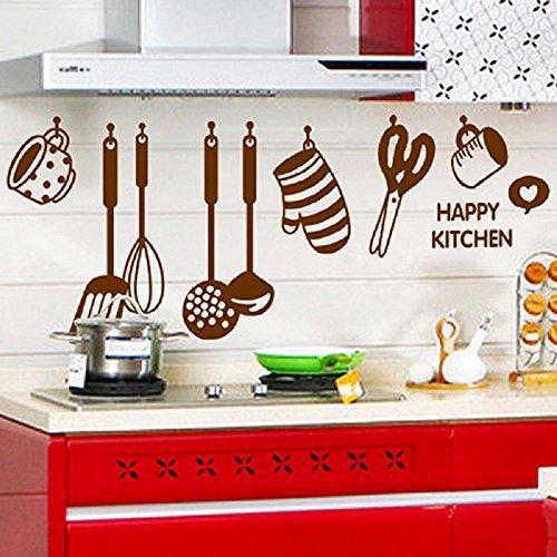 leber, Wasserdicht-Ablösbar-Personalisiert-Geschirrs-Wand-Glas-Kühlschrank-Aufkleber-Abziehbild-Tapete-Sticker-Abziehbild-Dekor, Muttertag sgeschenk ()