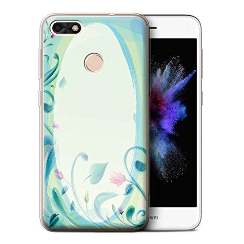 Stuff4 Gel TPU Hülle / Case für Huawei P9 Lite Mini / Blume Leinwand/Jahrgang Muster / Teal Mode Kollektion (Kollektion Mini-leinwand-tasche)
