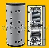 500 750 1000 Liter Hygienespeicher, Boiler mit Edelstahlwellrohr zur legionellenfreien Trinkwasseraufbereitung mit 1 zusätzlichen Wärmetauscher, Pufferspeicher, Trinkwasserspeicher