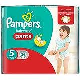 Pampers Baby-Dry Pants Gr.5, 12-18kg, 24 Windeln, 3er Pack (3 x 24 Stück), 1 Packung =1 Impfdosis