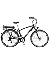 Bicicleta eléctrica Cicli Adriatica E1 Man con marco (aluminio y horquilla suave Talla 50 de hombre color negro