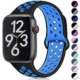 Hamile Kompatibel für Apple Watch Armband 42mm 44mm?Dual Farbe Weiches Silikon Atmungsaktiv Sportarmband für Apple Watch Seri