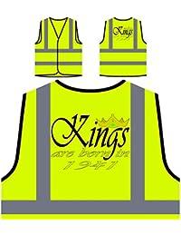 Funny Novelty Boss Kings nacen en 1941 Chaqueta de seguridad amarillo personalizado de alta visibilidad c380v
