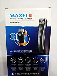 MAXEL AK-2017 RECHARGEABLE Beard & Moustache HAIR Clipper & Trimmer for Me