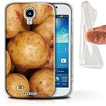 Carcasa/Funda STUFF4 TPU/Gel para el Samsung Galaxy S4/SIV / serie: Comida - Patata