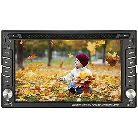 Ultima vittoria 8 in precipitare audio navigazione di GPS dell'automobile CD DVD Video Player 2 DIN Universal Car PC stereo MP3 MP4 Radio iPod Bluetooth