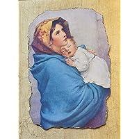 """Ars Martos - """"Madonna delle vie"""" Riproduzione d'Arte in Affesco su Intonaco. Misure: base 30 cm x 40 cm altezza"""
