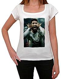 Sergio Ramos 3 T-shirt Femme,Blanc, t shirt femme,cadeau
