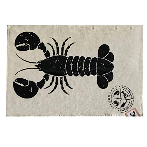 Konimpex Geschirrtuch Seafood Lobster beige 50 x 70 Küchentuch Farmhouse Country Hummer