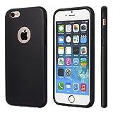 totallee iPhone 6Hülle, iPhone 6S Schutzhülle, Schwarz strapazierfähigem, Gummi, mit Hervorragende Griffigkeit Passt 11,9cm iPhone–Tough & Schutz- und Light & Slim Rottweiler, (Schwarz)