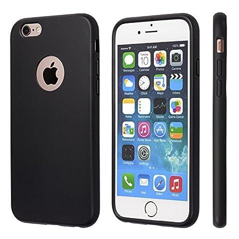 iPhone 6 Hülle, iPhone 6s Hülle, Schwarze Haltbare Stoßabsorbierende Gummihülle