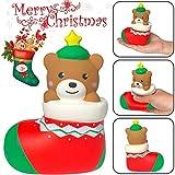 Quaan Weihnachten Spielzeuge, Squishies Weihnachten Weihnachtsmann Claus Spielzeug Schleppend Steigend Früchte Duftend Stress Linderung Spielzeuge Kind und Erwachsene Spielzeuge (A, 13.5x10x6cm)