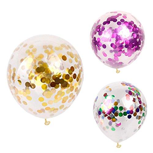 cke Gold Silber Confetti Hochzeit Ballon Alles Gute Zum Geburtstag Ballon Baby Dusche Dekoration Kinder Party Supplies ()