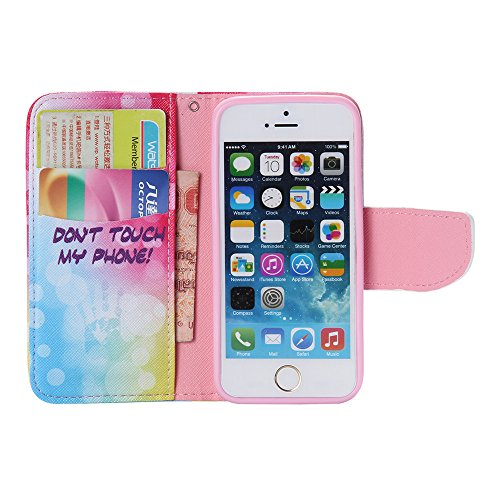 Nancen Apple iphone 6 / 6S (4,7 Zoll) Handy Lederhülle, Flip Case Wallet Cover with Stand Function, Folio Bookstyle Handytasche Soft Silikon Bunte Muster Tasche PU Leder Slim Shell Handyhülle. Bubble