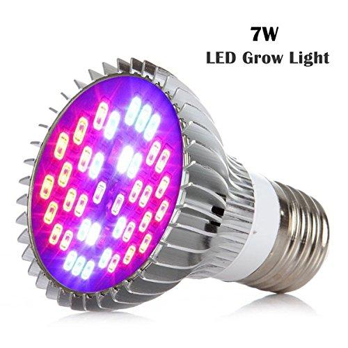 Sumchimamzuk Vollspektrum Pflanzenlampe LED Wachstumslampe mit 7W 40 LEDs Pflanzenleuchte Pflanzenlicht kompatibel mit Standard E26 / E27 Buchsen