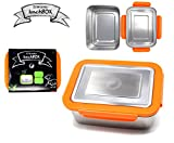 RVS Lunchbox - Oranje