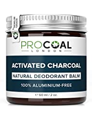Natural Deodorant with Activated Charcoal by PROCOAL - 100% Aluminium-Free Natural Deodorant Balm for Women and Men, Cruelty-Free, Paraben & Phthalates Free | Made in UK