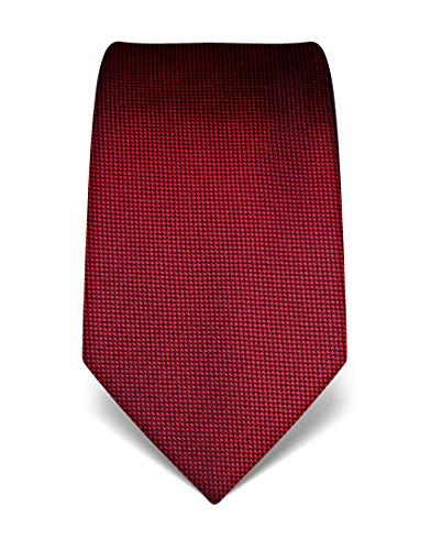 Vincenzo Boretti Herren Krawatte aus reiner Seide, strukturiert rot