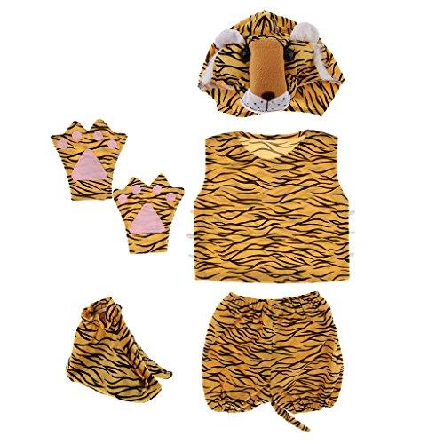 D DOLITY 5pcs/Set Enfants Costume de Déguisement - Dinosaure/Tigre/Singe pour Halloween Noël...