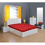 @home By Nilkamal Value+ 4-inch Single Size Foam Mattress (Maroon, 72x30x4)