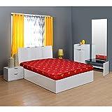 Nilkamal Value+ 4-inch Double Size Foam Mattress (Maroon, 78x48x4)