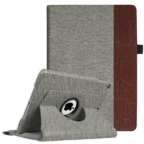 Fintie iPad 9.7 Zoll 2017 / iPad Air Hülle - 360 Grad Rotierend Stand Case Cover Schutzhülle mit Auto Schlaf / Wach Funktion für Apple iPad 2017 Neue Modell / iPad Air 2013 Modell, Denim grau (Generation Ipad 1. 64 Gb)