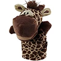 friendGG Hand Puppet Soft Plush Toys Cute Cartoon Animal Doll Kids Glove Story Telling for Kids Adults Children Play Learn Story Educational Stuffed Toy educational Moving Mouth and Hands (as the picture, giraffe)