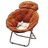 Large Size Lazy Chair Lunch Break Fold Recliner Armchair Nap Sofa ( Color : Brown )
