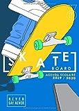 Agenda scolaire 2019-2020 Skate board: Agenda étudiant pour l'année scolaire 2019/2020 - août 2019 à août 2020 - format a5 - motif skateboard