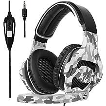 [SADES 2017 Multi-Plataforma Nueva Xbox one Gaming Headset de Juego PS4], SA810 Gaming Auriculares de juego de auriculares para Xbox one nuevo / PS4 / PC / Laptop / Mac / iPad / iPod (negro y camuflaje)