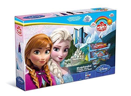 Didò- disney princess fila cf frozen 10 salsicciotti dido', 3 formine doppie dei personaggi 801, multicolore, 340000