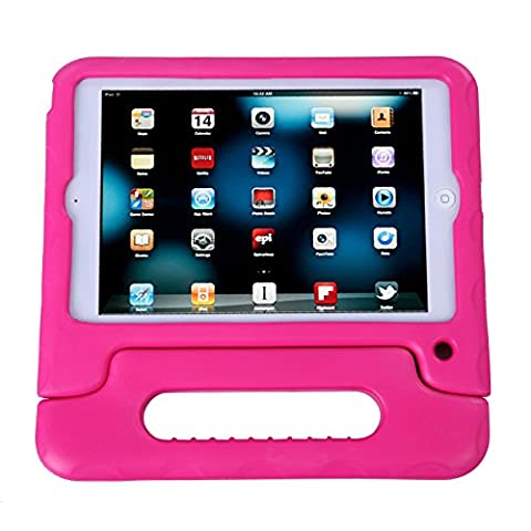 HDE iPad Mini Kids Case Shockproof Handle Stand Cover for Apple iPad Mini 2/3 Retina (Quilted Pink)