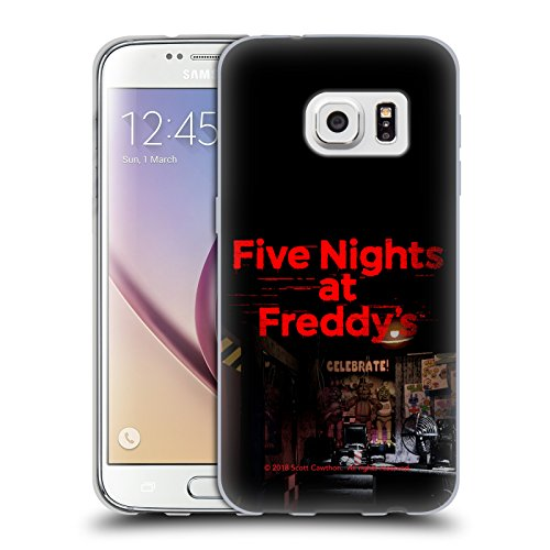 Official Five Nights At Freddy's Game 1 Logos Soft Gel Case for Samsung Galaxy S7