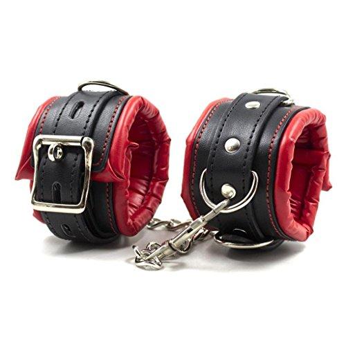 SM New Style Weiches Leder Handschellen Knöchel Manschetten Fesseln für Sex Spiel