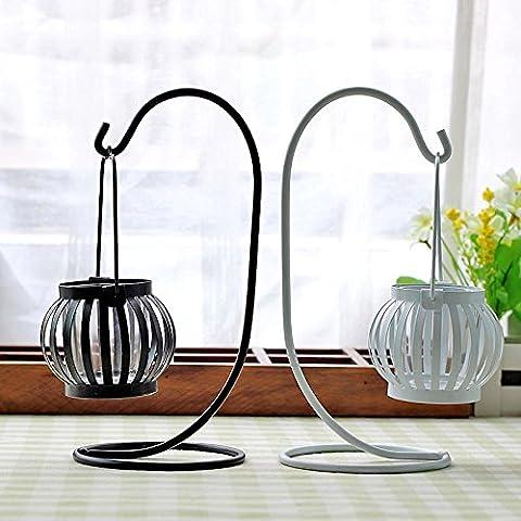 Portacandele,Continental lanterne in ferro di incisione portacandele