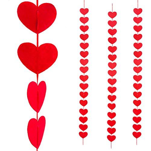kenhänger Valentinstag rote Herzen - 48 Stück - Liebe (Valentinstag Girlande)