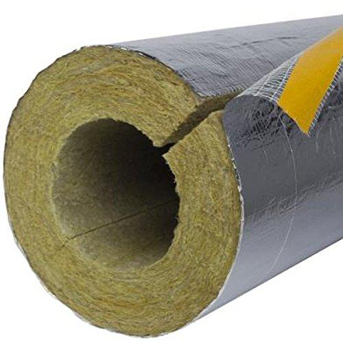 1m Rohrschale Alu PLUS 30mm Dämmstärke für 18mm Rohrdurchmesser Heizungs-Rohr Rohrisolation Steinwolle (Rohr Heizung)