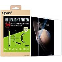 Cyxus filtro de luz azul pantalla bloqueo uv [mejor sueño] 9H protector de pantalla de vidrio temperado para apple ipad (12,9 pulgada)