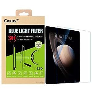 cyxus blocage nocifs Bleu clair [veille une meilleure] [Anti Fatigue Eye] en verre trempé Dureté 9H Film protecteur d'écran ultra transparent pour Apple iPad Pro (32,8cm)