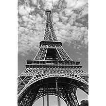 Francia Torre Eiffel blanco y negro Póster Impresión en tamaños, papel, A6(Sample)