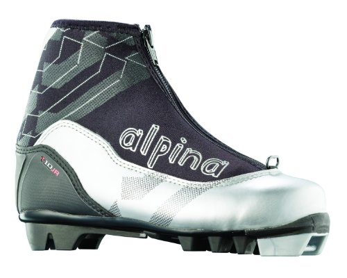 alpina JUNIOR T10Langlauf Nordic Ski Stiefel, silber/schwarz